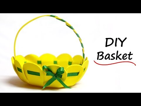 Access youtube how to make basket from craft foam sheet easter basket ideas flower basket negle Choice Image