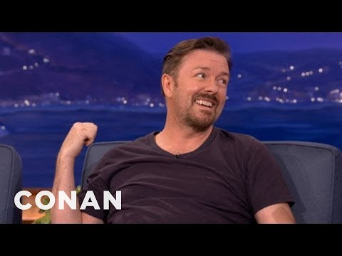 Ricky Gervais On His Scandinavian Comedy Tour - CONAN on TBS