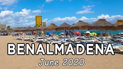 Benalmadena to Torremolinos | Beach Walking Tour, Malaga, Costa del Sol, Spain (June 2020)