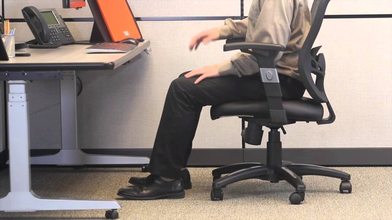 Office Chair Height White Cotton Covers Ergonomic Positioning Setting Youtube