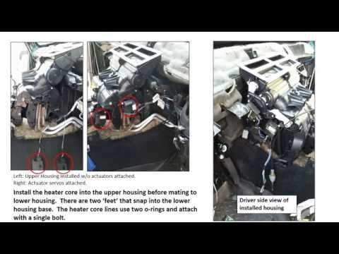 Jeep Commander HVAC (blend-door) And Heater Core Repair