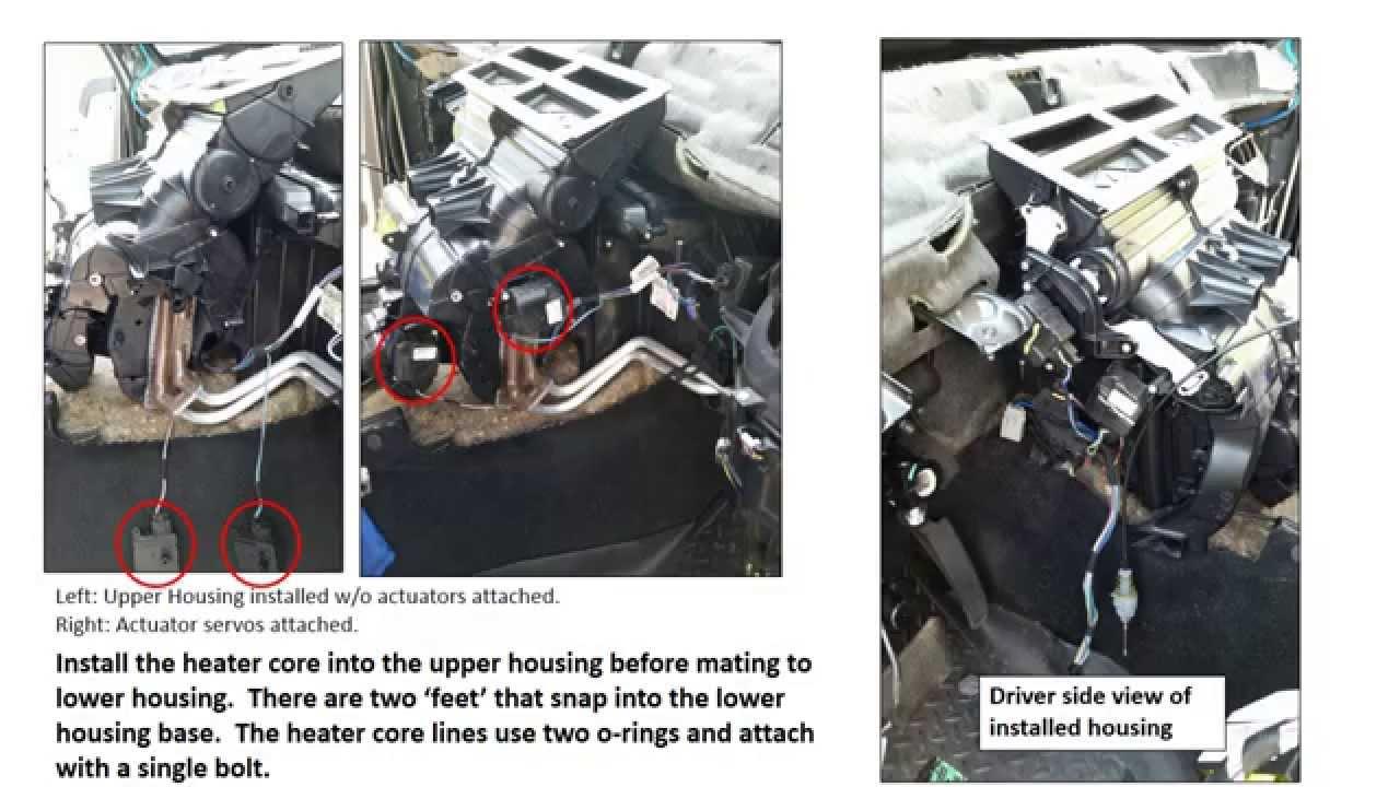 Jeep Commander HVAC (blenddoor) and Heater Core repair