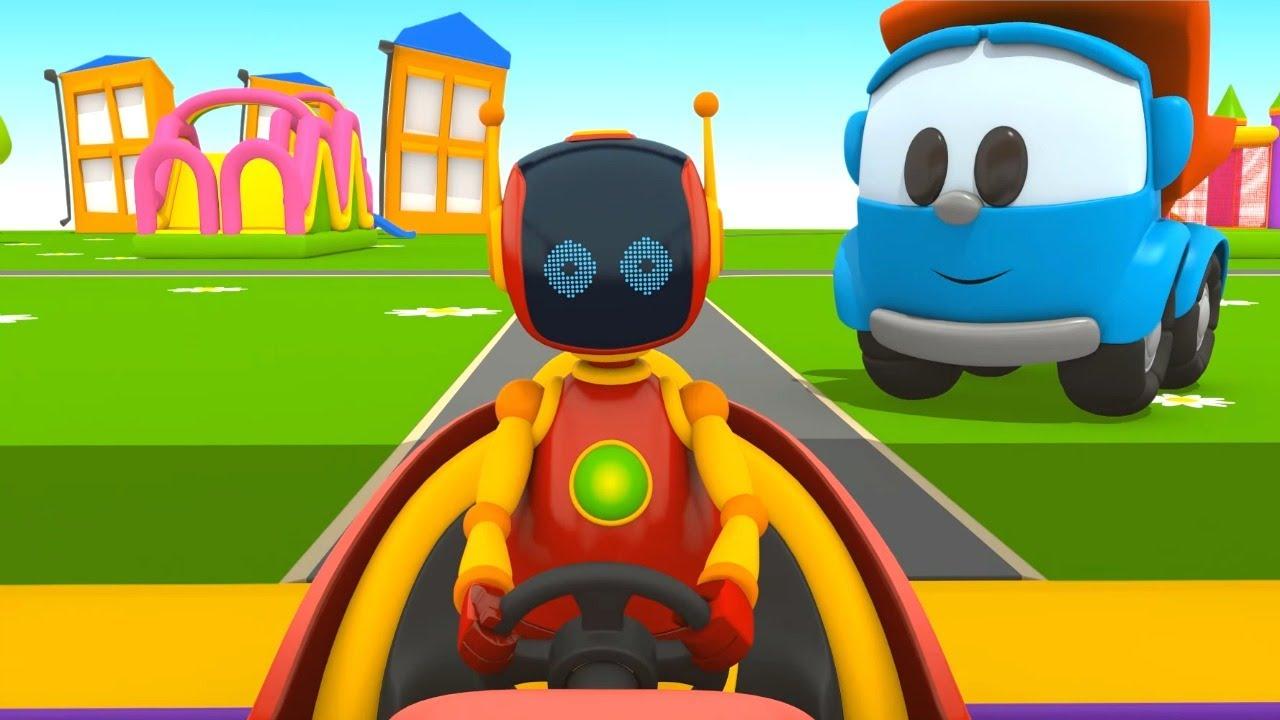 Download Çizgi film - Leo Junior robota yardım ediyor.