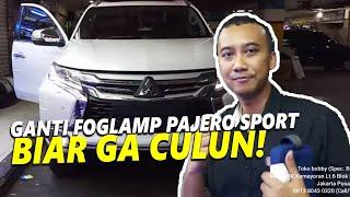 Mitsubishi Pajero Sport DAKAR UPGRADE Foglamp LED Crown New Concept