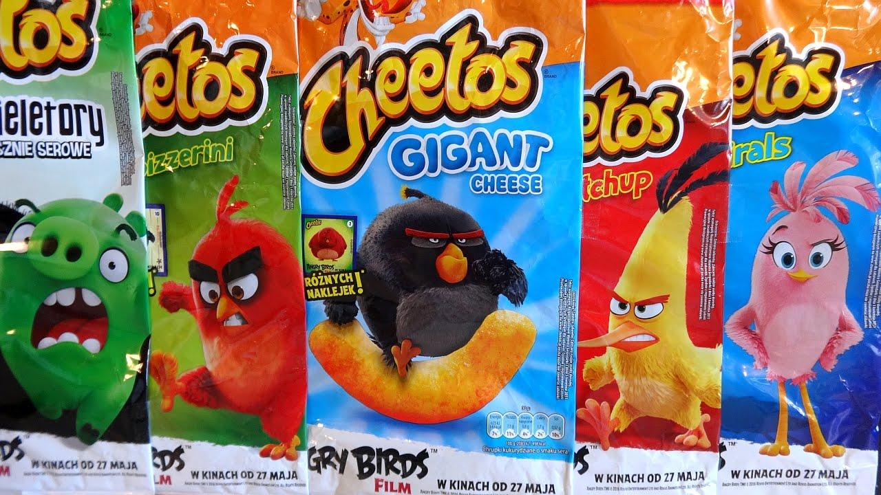2016 The Angry Birds Movie 25 Big Cheetos Snacks Bags