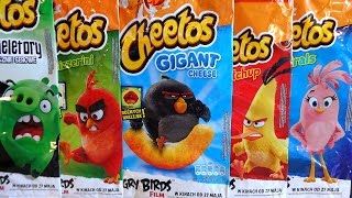 2016 The Angry Birds Movie Album & 25 Big Cheetos Snacks Bags Surprise European Collection