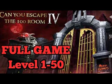 Can You Escape The 100 Room 4FULL GAME Level 1 - 50 Walkthrough