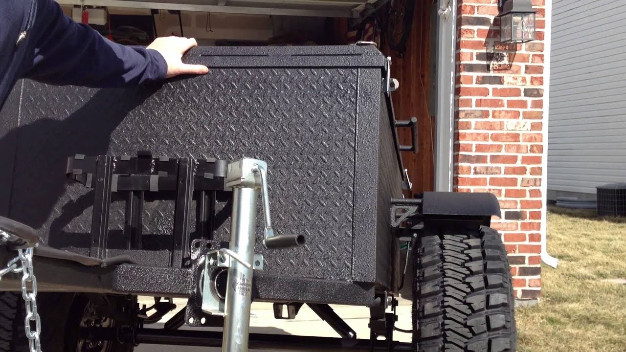 off road box trailer build youtube