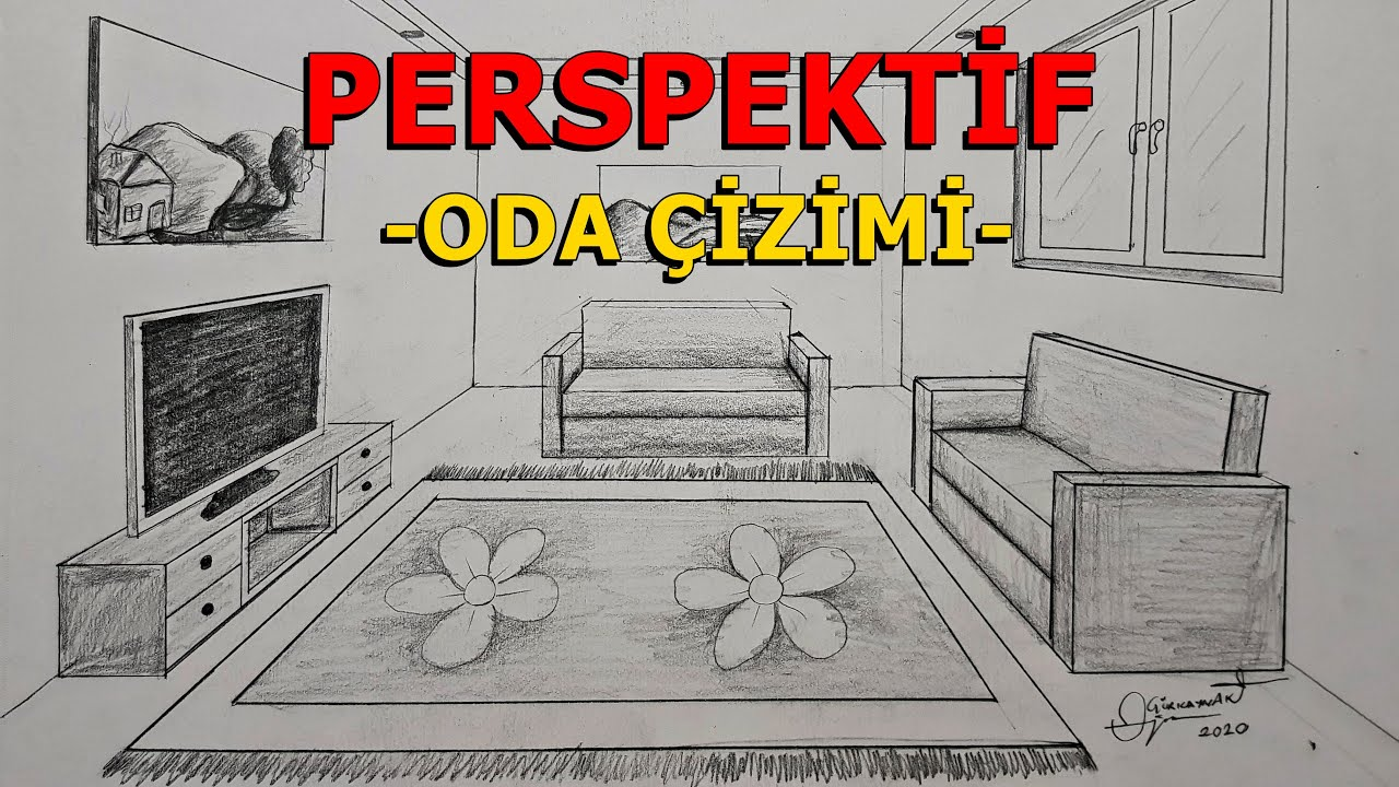 How to Draw a Simple Bedroom in One Point Perspective