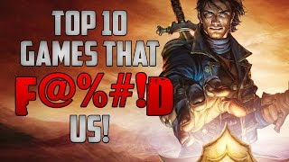 Top 10 Games That F*cked Us