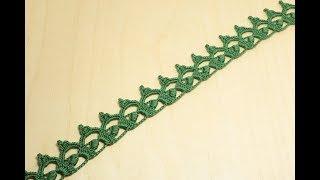 Вязание крючком ленточного кружева  Crochet Lace