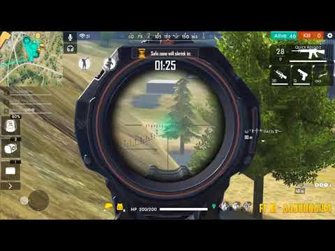 AWM Sniping In Squad Match Gameplay - Garena Free Fire