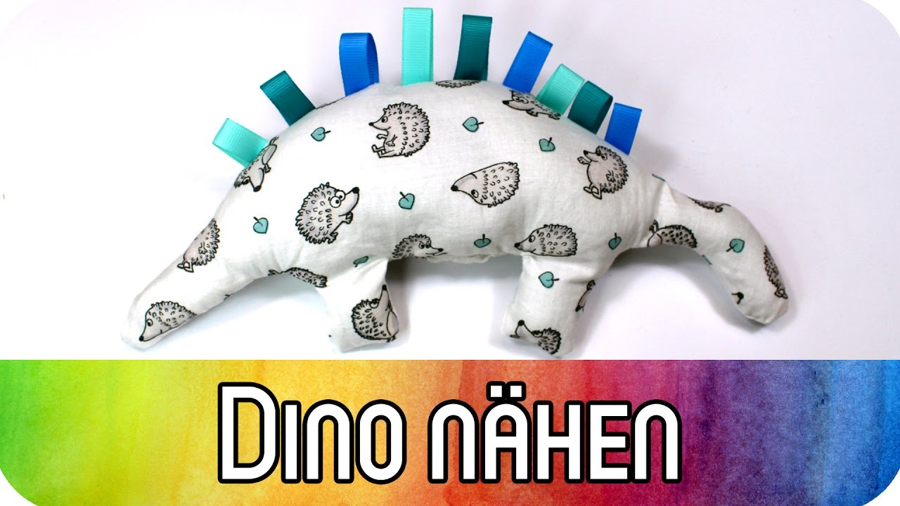 Kuscheltier Dinosaurier nähen als Spielzeug für Babys | Nähen für ...