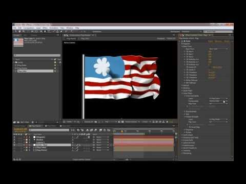 Tutorial - Create a flowing flag with After Effects and Form