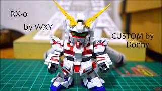 [Papercraft] SD RX-0 Unicorn Custom (Framelapse)