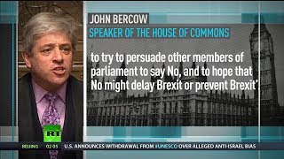 Bercow says MPs can block or delay Brexit