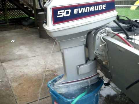 50hp evinrude (longer idle test)