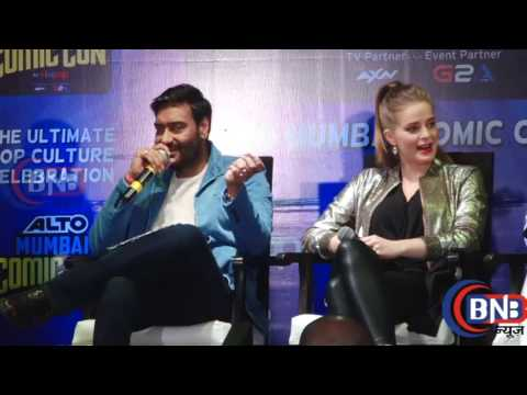 UNCUT   Ajay Devgn's Shivaay Comic Book LAUNCH  Erika Kaar, Abigail Eames Comic Con India 2016