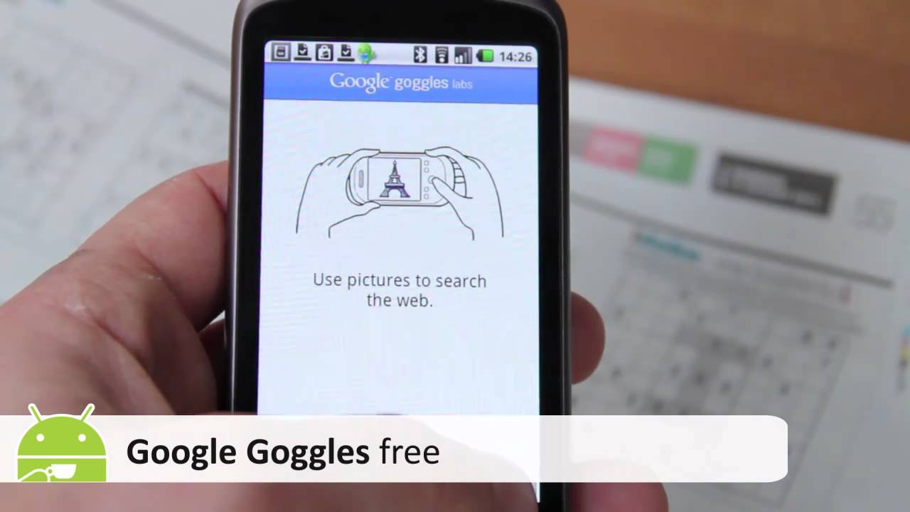 Google Goggles Android App review - YouTube