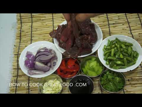 ★★ Chinese Garlic Beef & Green Beans Stir Fry Recipe - Asian Wok