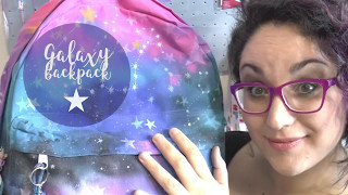 Galaxy backpack DIY * Paint a backpack with MARKERS