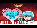 [Valiant Force] Trial 3 Elemental Chaos Legendary Stage Clear with No Event Heroes