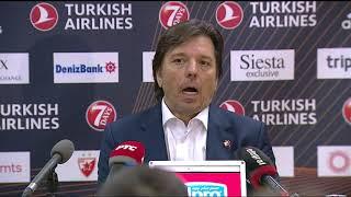 Konferencija Andrije Gavrilovića Nakon Meča sa Barselonom   SPORT KLUB KOŠARKA