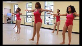 michelle obama ellen degeneres gimmefive hip hop dance workout