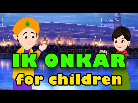 IK ONKAR SATNAM Animated For Children   Punjabi Rhymes For Kids