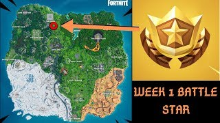 Week 1 Secret Battle Pass Star Locations Fortnite Season X