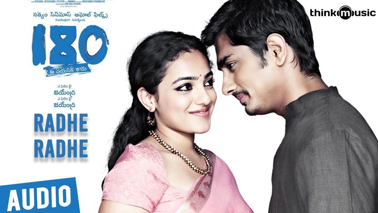 180 Songs - Telugu | Radhe Radhe Song | Siddharth, Priya Anand, Nithya Menen | Sharreth