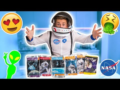 TRYING ASTRONAUT FOOD FOR THE FIRST TIME