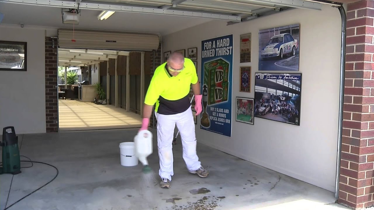 How to Prepare a Concrete Floor for Painting  YouTube