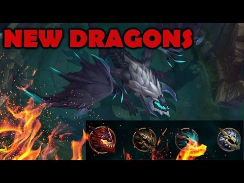 5 NEW ELEMENTAL DRAGONS EXPLAINED (Gameplay) - League of Legends