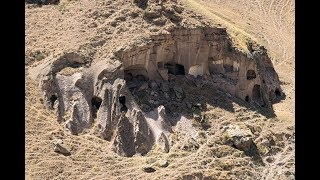 Unknown old rock cut caves Ani