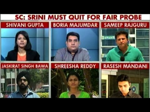 Supreme Court angry & upset with Srinivasan