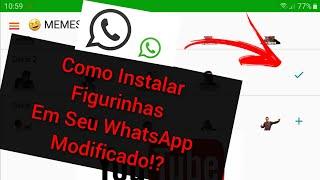 Como ADICIONAR FIGURINHAS EM Seu Yowhatsapp | Gbwhatsapp | OGwhatsapp | WhatsApp Modificado (sticks)