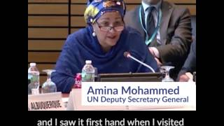 UN DSG and former WSSCC Chair Amina J. Mohammed at SWA High-level meetings 2017