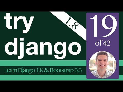 Try Django 1.8 Tutorial - 19 of 42 - Adding Bootstrap to Django - Learn Django