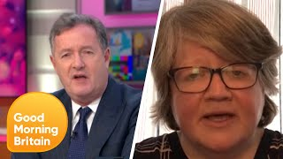 Piers Clashes with Minister over Coronavirus Deaths | Good Morning Britain