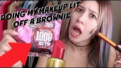 I *TRIED* DOING MY MAKEUP WHILE ON A 1000MG EDIBLE // LIFEBEINGDEST