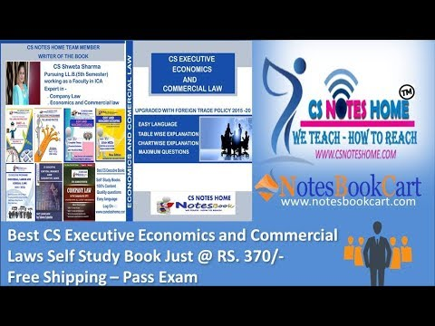 Best CS Executive Book - Economics and Commercial Laws - Live Review - pass  cs exam with high score