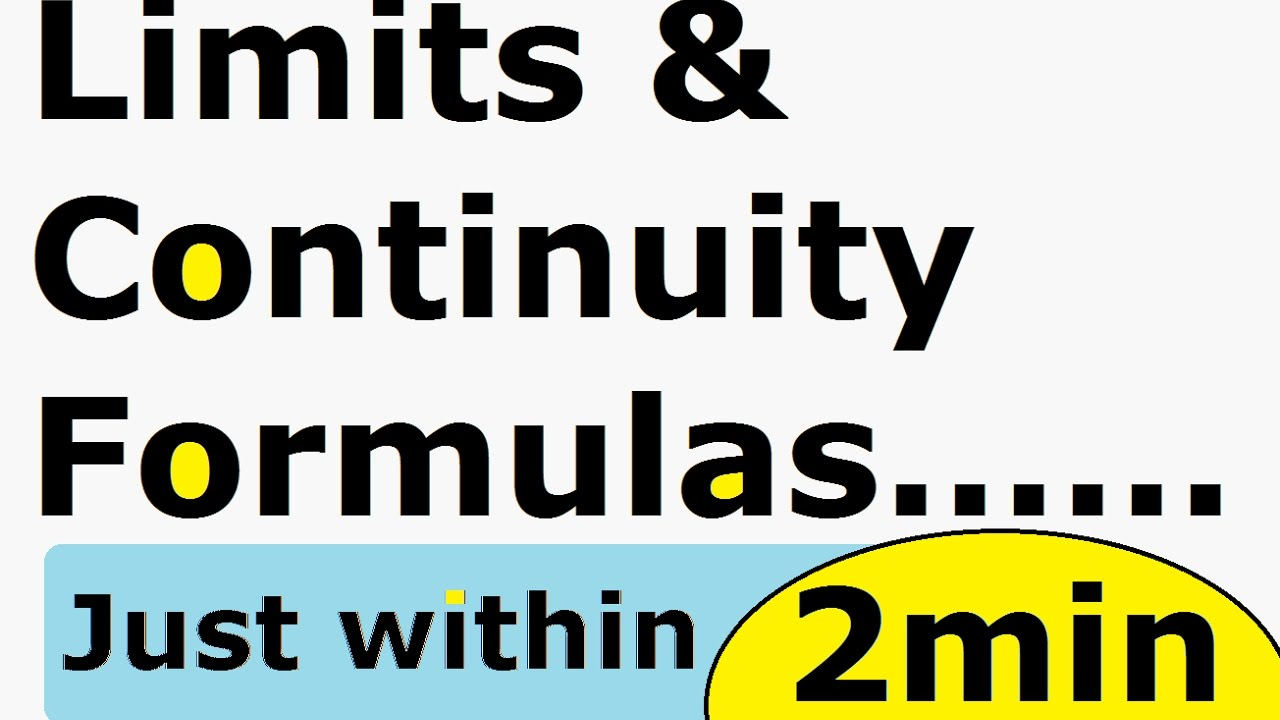 Limits and Continuity Calculus Formulas ! Amazing TRICK : Class 12 NCERT  CBSE Solutions [ Hindi ]