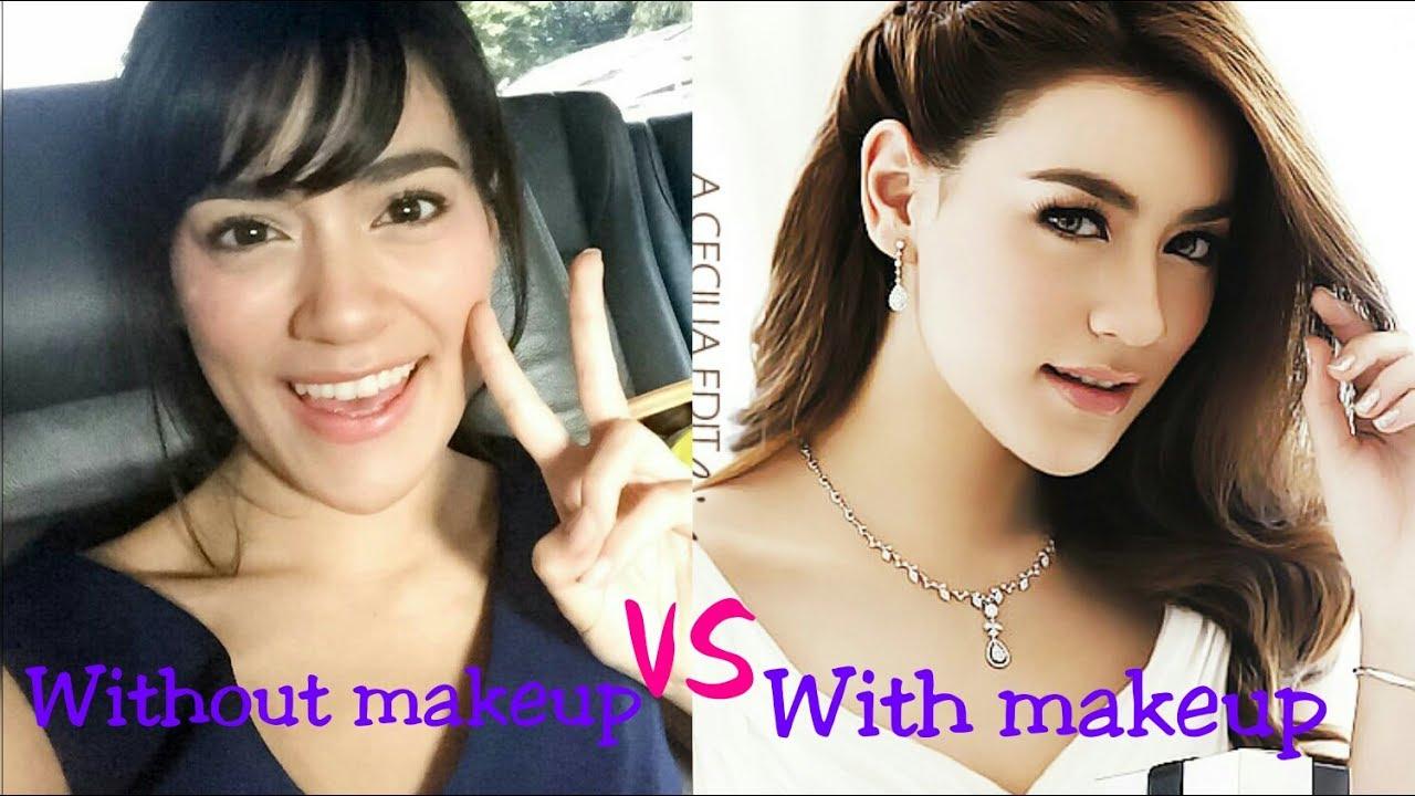 top 10 thai actresses without makeup vs makeup - youtube