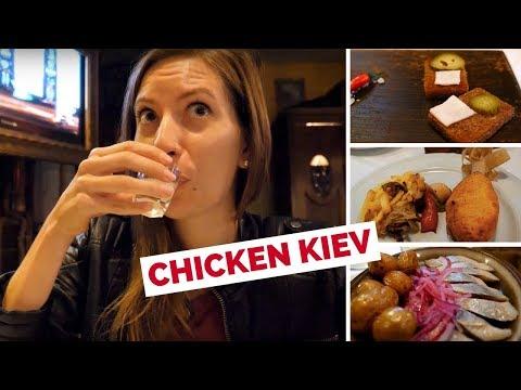 Chicken Kiev (котлета по-київськи) - Eating Ukrainian Food in Kyiv, Ukraine