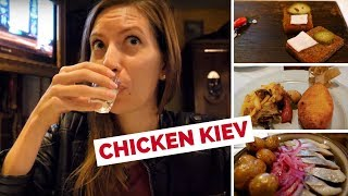 Chicken Kiev (котлета по-київськи) - Eating Ukrainian Food in Kyiv, Ukraine