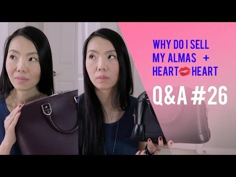 Q&A #26: HEART TO HEART, WHY DID I SELL MY ALMA BB, CHANEL MEDIUM FLAP vs MINI FLAP | FashionablyAMY