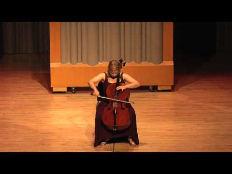 Winona Zelenka - J.S. Bach Cello Suite No. 6 Prelude.mov