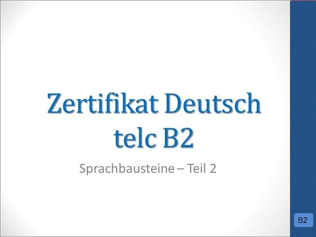 übung test b2 telc