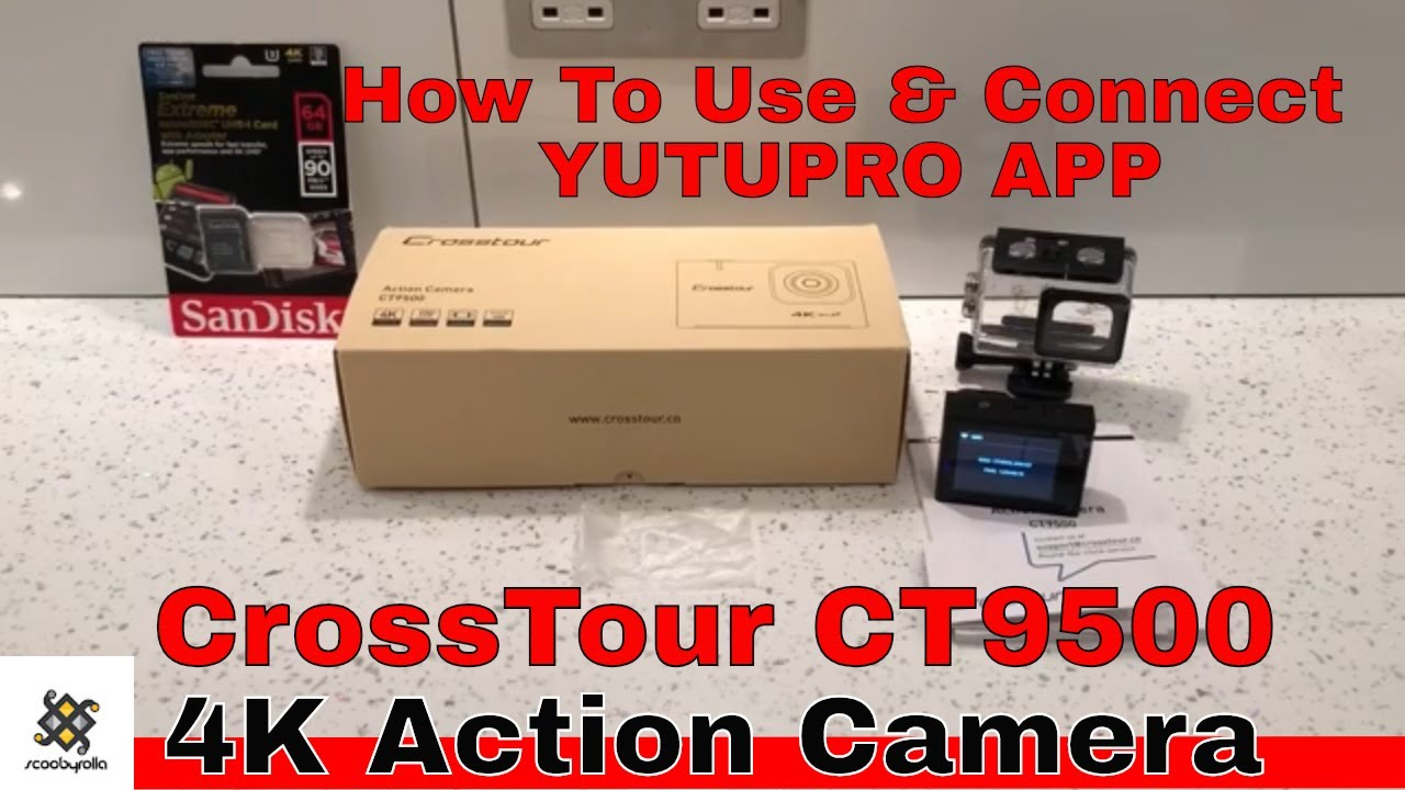 How To Use Crosstour CT9500 4K Action Camera & Use YUTUPRO App by Scooby  Rolla